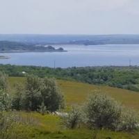 Lac de acumulare Costești, vedere din or. Costești, Rîșcani