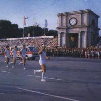 Огонь Олимпиады в Молдавии