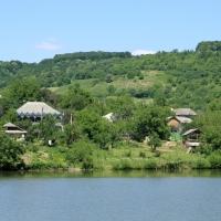 Satul Leordoaia, vedere de pe deal, sus de sat